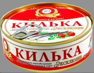 Фото Рыбные консервы Килька в т/с обжар. ТМ Пролив