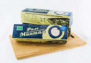 Фото Свежемороженая рыба Минтай филе картонная упаковка