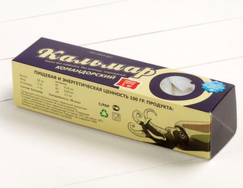 Кальмар филе картонная упаковка