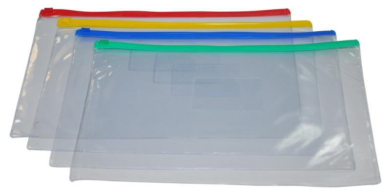 Папка-конверт А5 на молнии 170 микрон DONAU, прозрачная