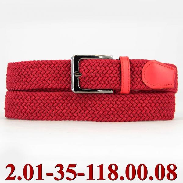 2.01-35-118.00.08 ремень классика текстиль красный