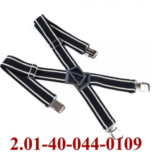 2.01-40-044-0109 подтяжки взрослые черн-беж полос