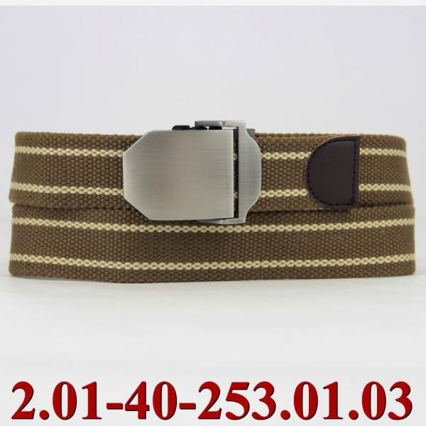 2.01-40-253.01.03 ремень классика текстиль св.коричневый