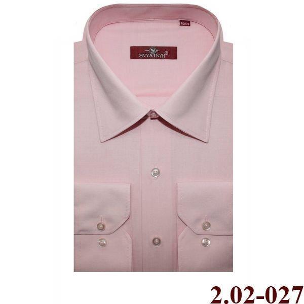 2.02-027 сорочка полуприт т.розовый длин