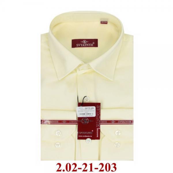 2.02-21-203 сорочка полуприт бежевая однотон длин
