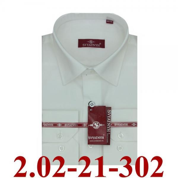 2.02-21-302 сорочка полуприт молочная однотон длин