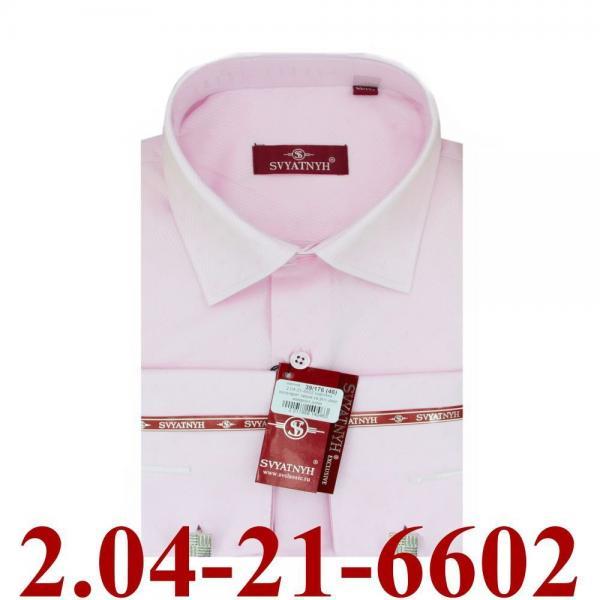 2.04-21-6602 сорочка полуприт запон св.роз диаг микроуз длин