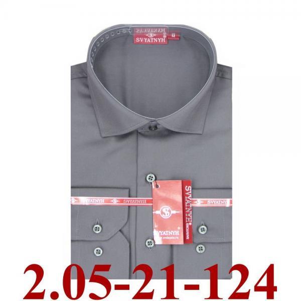 2.05-21-124 сорочка притал графитовая однотон длин