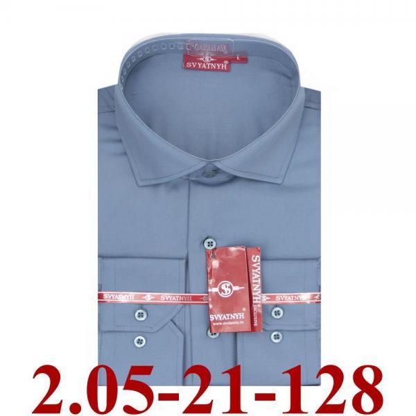 2.05-21-131 сорочка притал черная однотон длин