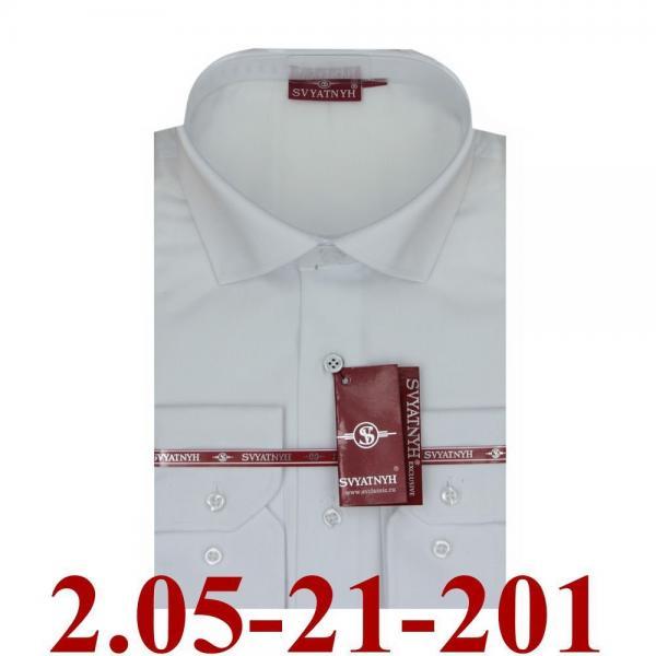 2.05-21-201 сорочка притал белая однотон длин