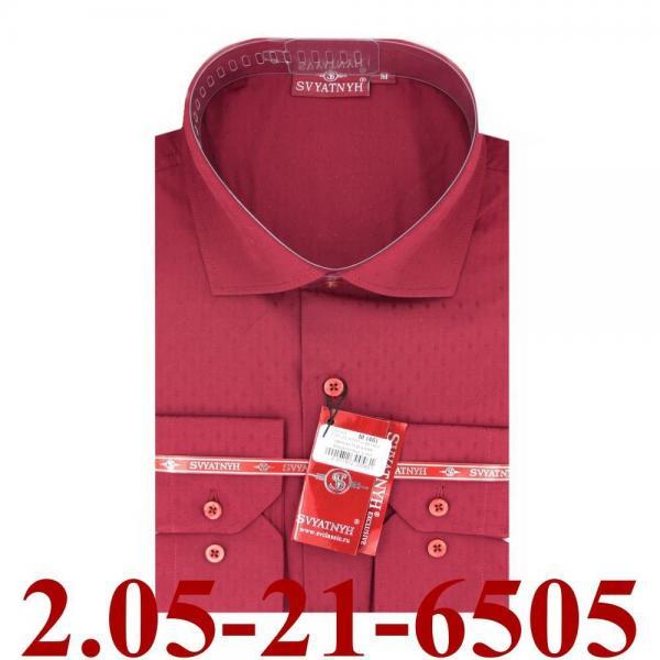 2.05-21-6505 сорочка притал бордовая микроточка длин