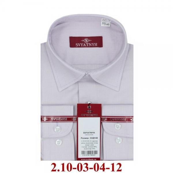 2.10-03-04-12 сорочка детск св.розовая точка микро длин