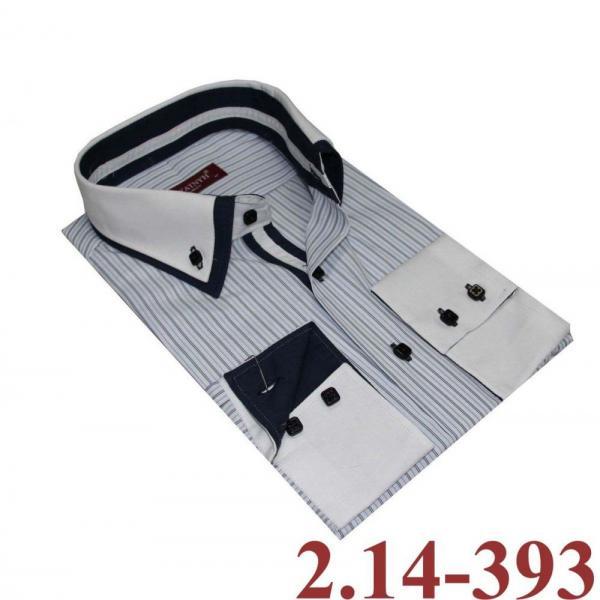 2.14-393 сорочка прит диз бел пол 2ворот длин