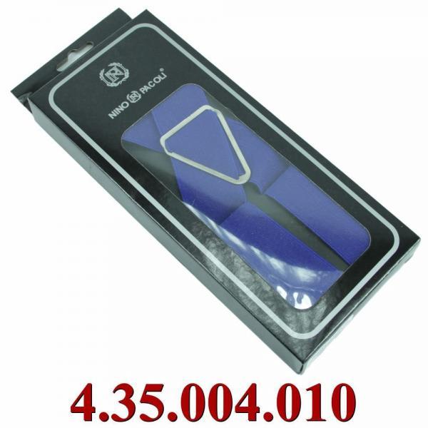 4.35.004.010 подтяжки в черной коробке однотон синии