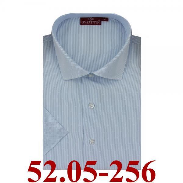 52.05-256 сорочка притал голубая микрополос корот