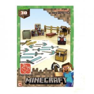 """Фото  Бумажный конструктор """"Minecraft Papercraft"""" Игровой мир """"Предметы"""", 30 деталей"""
