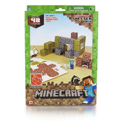 """Бумажный конструктор """"Minecraft Papercraft"""" Игровой мир """"Убежище"""" 48 деталей"""
