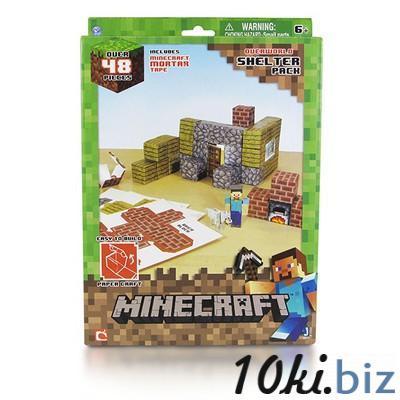 """Бумажный конструктор """"Minecraft Papercraft"""" Игровой мир """"Убежище"""" 48 деталей Конструкторы в Самаре"""