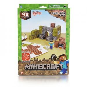 """Фото  Бумажный конструктор """"Minecraft Papercraft"""" Игровой мир """"Убежище"""" 48 деталей"""