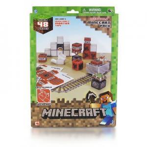 """Фото  Бумажный конструктор """"Minecraft Papercraft"""" Игровой мир """"Вагонетка и ТНТ"""" 48 деталей"""
