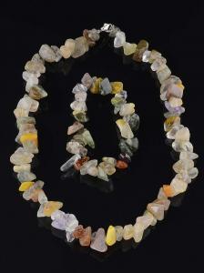 Фото Натуральные Камни Бусы+Браслет Сердолик 43 см.
