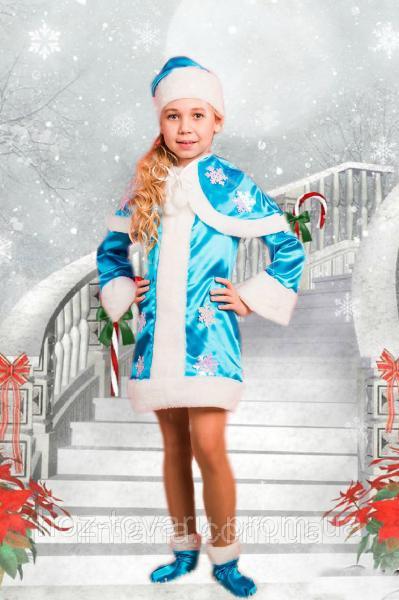 Карнавальный новогодний костюм Снегурочка 037 (3 размера)