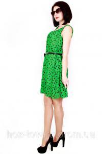 Фото Женская одежда оптом, Платья, Костюмы женские Женское платье 318 черный горох