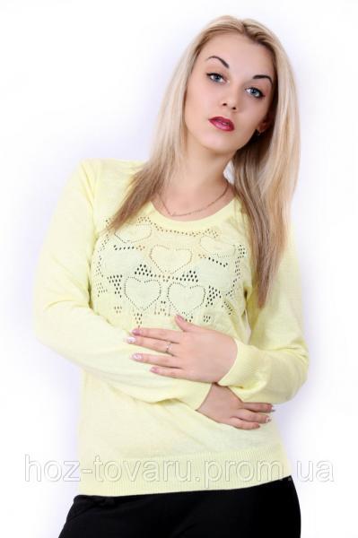 Женский легкий джемпер 1501 Желтый