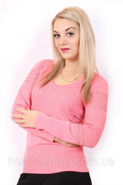 Ажурный джемпер 1421 Розовый
