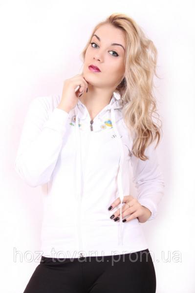 Спортивная женская кофта мастерка №86 Белый