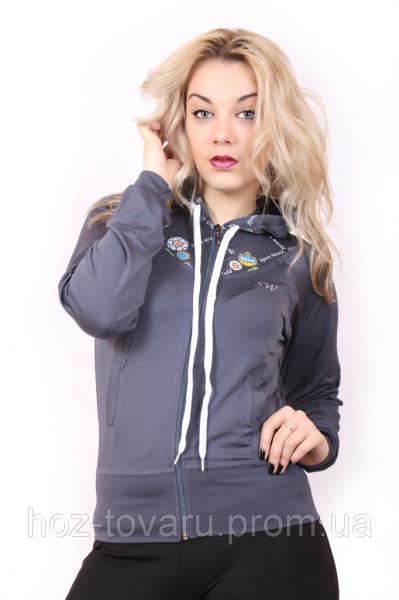 Спортивная женская кофта мастерка №86 Серый