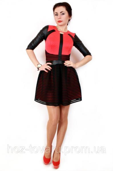 Платье женское Барби коралл