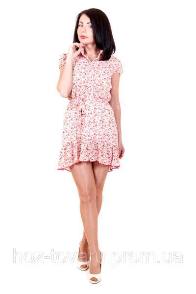 Платье-туника 360, шифоновое платье, платье в цветочек, туника шифоновая, дропшиппинг по украине