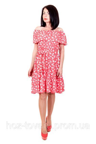 Платье летнее 404, летнее платье, платье в цветочек, платье из хлопка, дропшиппинг по украине