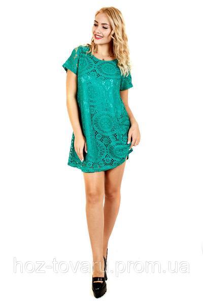 Платье ажур №32 (4 цвета), ажурное платье, платье кружевное, дропшиппинг поставщик