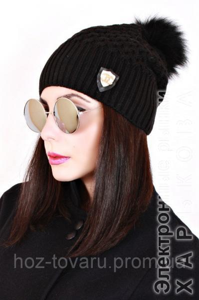 Шапка вязанная женская Белла 0026 (7 цв), женские шапки оптом, шапки от производителя, дропшиппинг - Шапки на рынке Барабашова