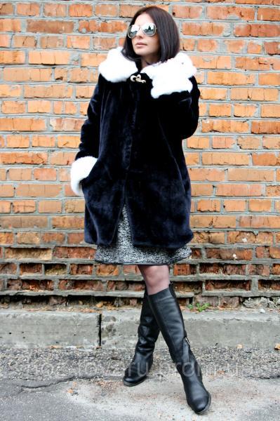 Шуба мутон Люкс, шуба из искусственного меха, шуба мутон, одежда от производителя