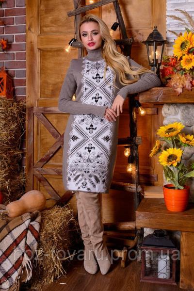 Платье вязанное Ольга