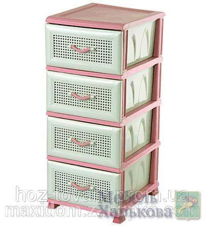 Комод пластиковый сетка элиф розовый - Пластиковые комоды и ящики для хранения в Харькове
