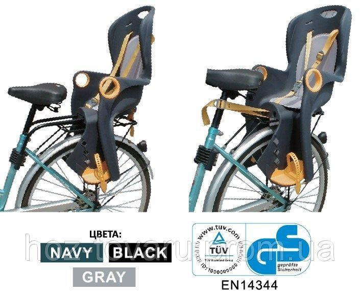 Велокресло для детей Tilly BT-BCS-0002 (2 цвета) черно-оранж, красно-сер.