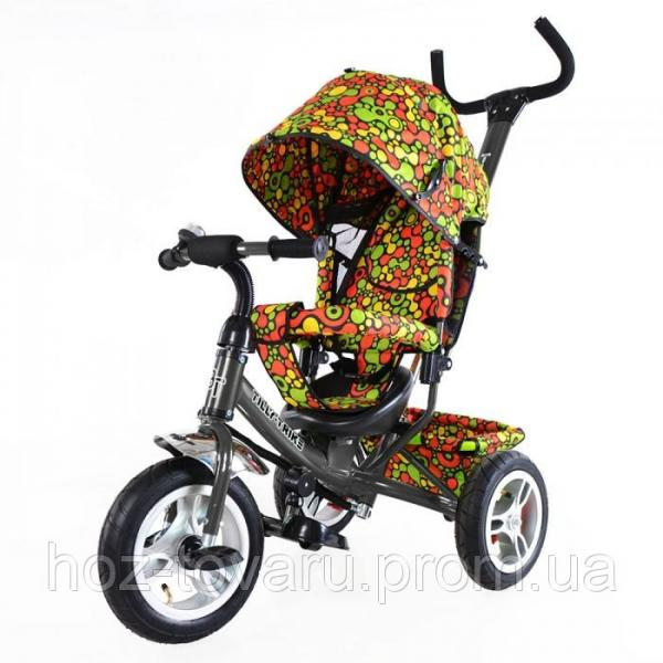 Велосипед трёхколёсный TillyTrike T-351-4 Мозаика (3 цвета) с большими надувными колесами