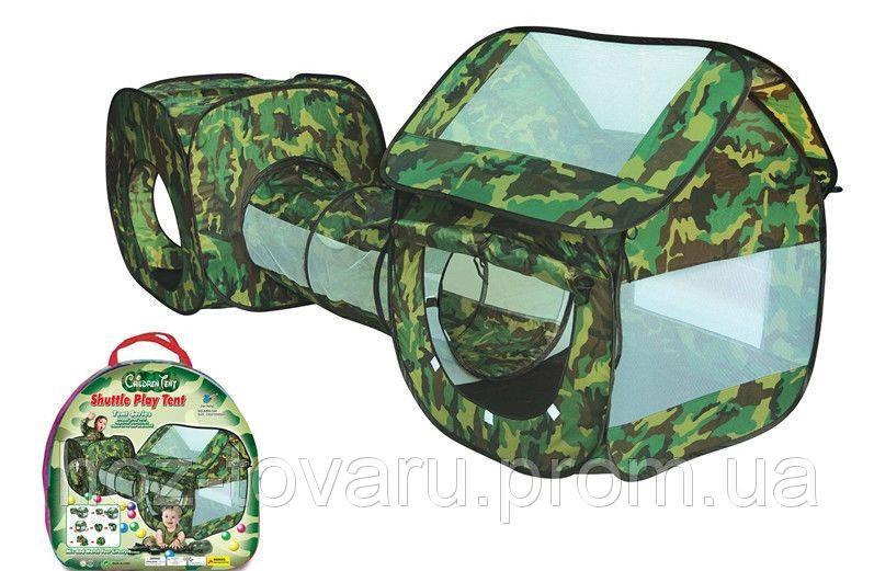 """Двойная палатка с тоннелем """"Камуфляж"""" 999-144"""