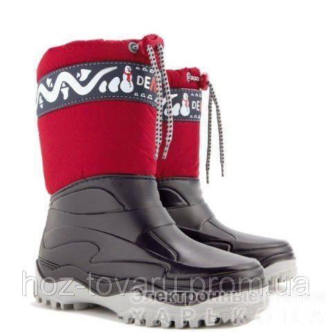 Демисезонные сапоги DEMAR FROST b (красные) - Демисезонная детская и подростковая обувь на рынке Барабашова