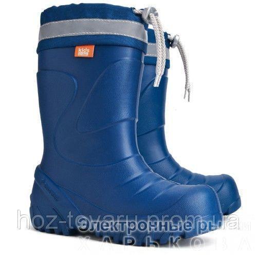 Демисезонные сапоги DEMAR Mammut-S d (синие) - Демисезонная детская и подростковая обувь на рынке Барабашова