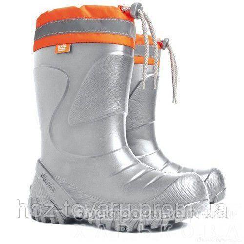 Демисезонные сапоги DEMAR Mammut-S h (светло-серые) - Демисезонная детская и подростковая обувь на рынке Барабашова