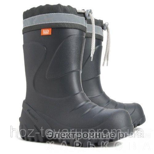 Демисезонные сапоги DEMAR Mammut-S i (черные) - Демисезонная детская и подростковая обувь на рынке Барабашова