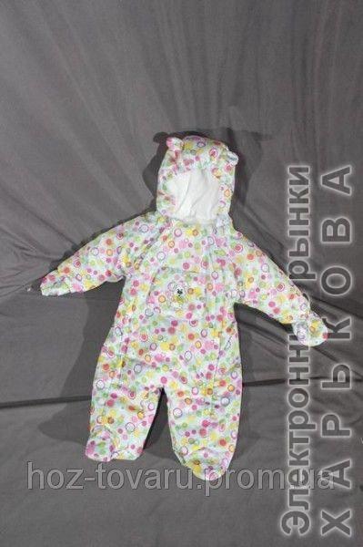 """Демисезонный комбинезон """"Человечек"""" на флисе Разноцветный горох - Человечки для новорожденных на рынке Барабашова"""