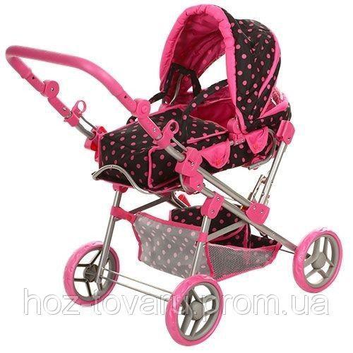 Детская коляска для куклы 9368, железная, 81-80-44см, регул, люлька-переноска, корзина, сумка