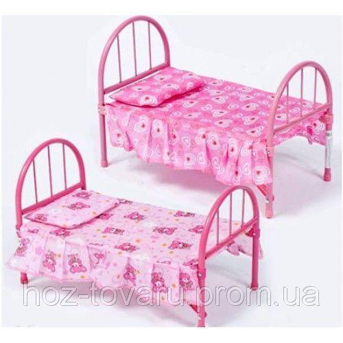 Детская кроватка для куклы металлическая 9342