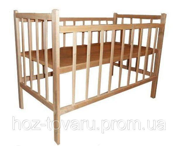 Детская кроватка КФ1 классическая без лака светлая